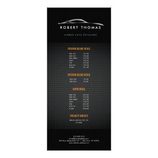 BLACK AUTO DETAILING, AUTO REPAIR RACK CARD
