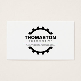 Black Automotive Gear Auto Repair, Mechanic Business Card