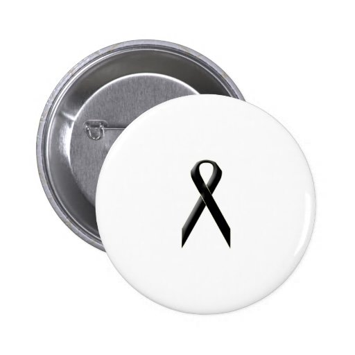 Black awareness ribbon button