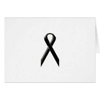 Black awareness ribbon card