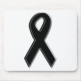 Black Awareness Ribbon Mouse Pad