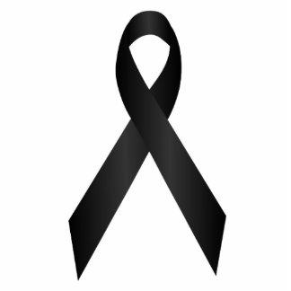Black Awareness Ribbon Pin Statuette