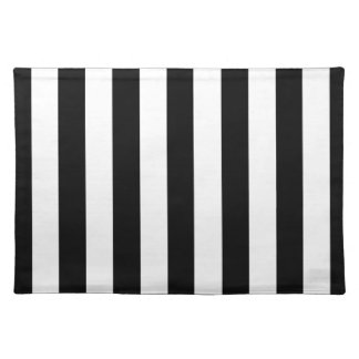 Black Awning Stripe Placemat