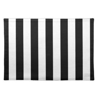 Black Awning Stripe Placemat