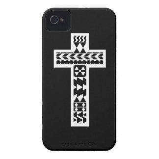 Black Aztec Cross iPhone 4 Case-Mate Case