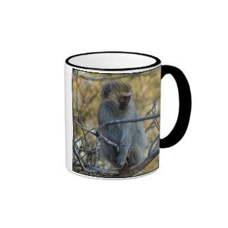 Black Baboon Ringer Coffee Mug