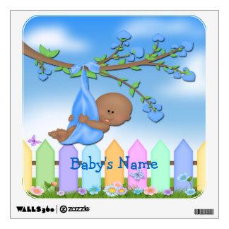 Black Baby Boy - Backyard Square Wall Decal