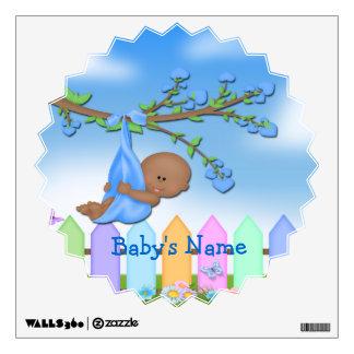 Black Baby Boy - Backyard Star Burst Wall Decal