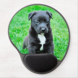 Black Baby Dog Gel Mouse Pad