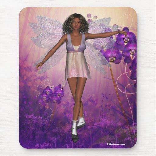 Black Baby Doll Fairy Mousepad