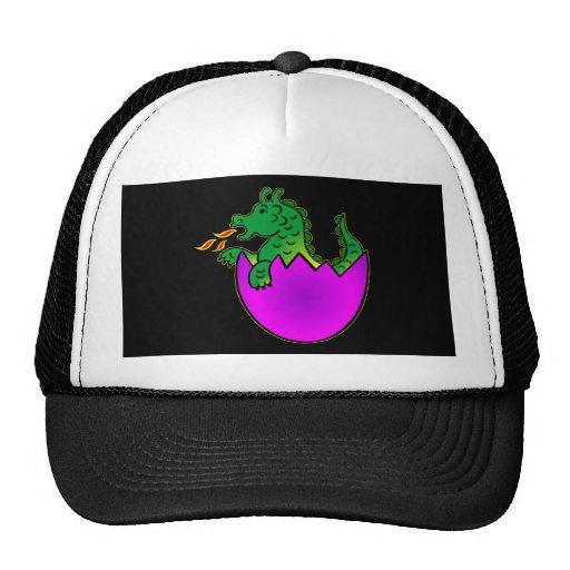 Black Baby Dragon Egg Trucker Hat