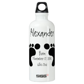 Black Baby Footprints/Customizable liberty bottle SIGG Traveler 0.6L Water Bottle