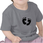 Black Baby Footprints Tshirt