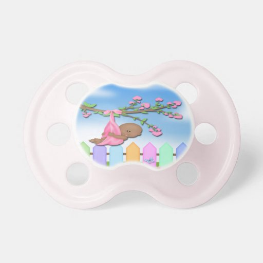 Black Baby Girl - Backyard Baby Pacifier | Zazzle