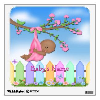 Black Baby Girl - Backyard Square Wall Decal
