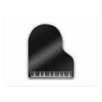 Black Baby Grand Piano Postcard