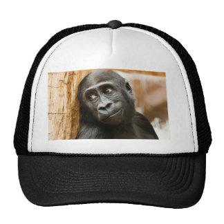 Black Baby Monkey Trucker Hat