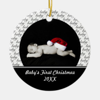 Black Baby's First Christmas Ornament