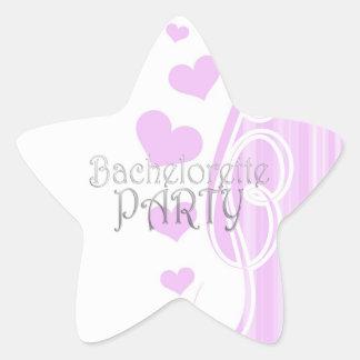 black bachelorette wedding bridal shower party fun star sticker