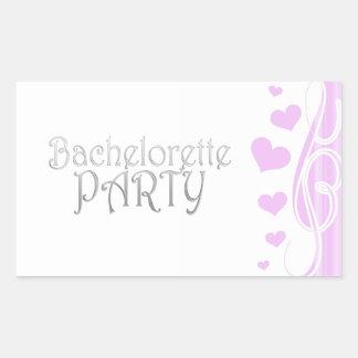 black bachelorette wedding bridal shower party fun rectangular sticker
