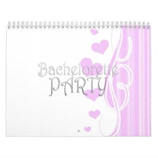 black bachelorette wedding bridal shower party fun calendar