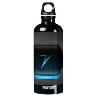Black Back Ground Aluminum Water Bottle