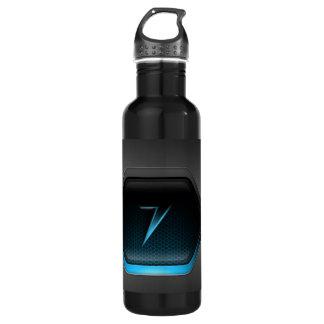 Black Back Ground Water Bottle