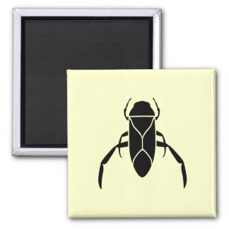 Black Back Swimmer Insect Graphic Print 2 Inch Square Magnet