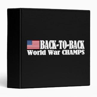 Black Back-To-Back USA Champs Binder