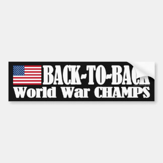 Black Back-To-Back USA Champs Car Bumper Sticker