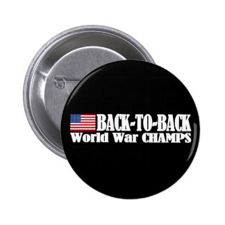 Black Back-To-Back USA Champs Pinback Button