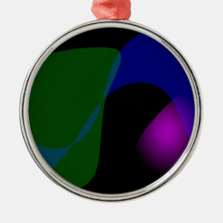 Black Background Abstract Art Metal Ornament