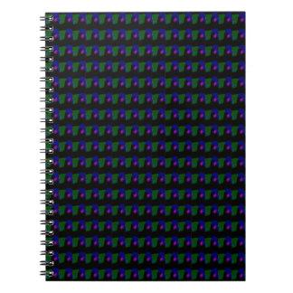 Black Background Abstract Art Spiral Notebook