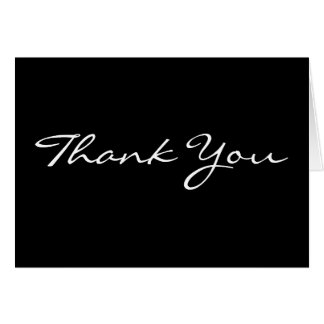 Black Background Business Thank You Cards