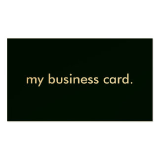 Black Background, my business card. Double-Sided Standard Business Cards (Pack Of 100)