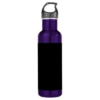 Black Background on a 24oz Water Bottle