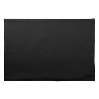 Black Background on a Placemat Cloth Placemat