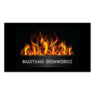 Black Background Orange Flames Fire Double-Sided Standard Business Cards (Pack Of 100)