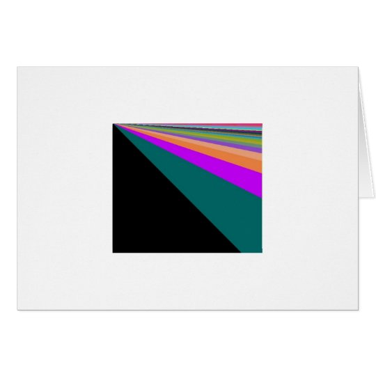 Black Background Pastel Rainbow Card