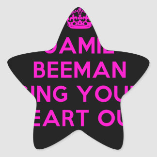 Black Background Sing Your Heart Out Star Sticker