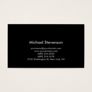 Black Background Standard Consultant Business Card