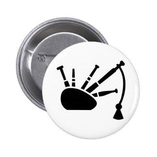 Black bagpipe 2 inch round button