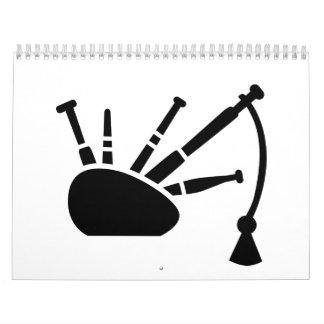 Black bagpipe calendar