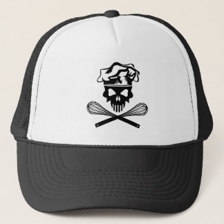 Black Baking Skull and Crossed Whisks Trucker Hat