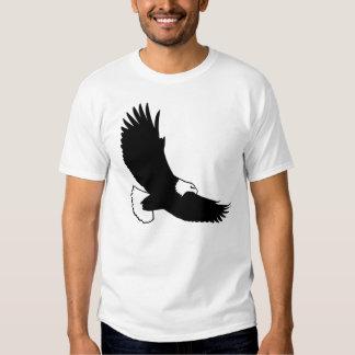 Black Bald Eagle In Flight Shirt