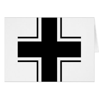 Black Balkan cross of Luftwaffe Card