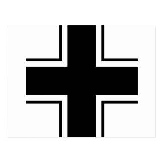 Black Balkan cross of Luftwaffe Postcard