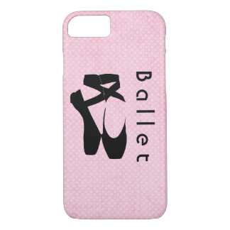 Black Ballet Shoes En Pointe iPhone 7 Case