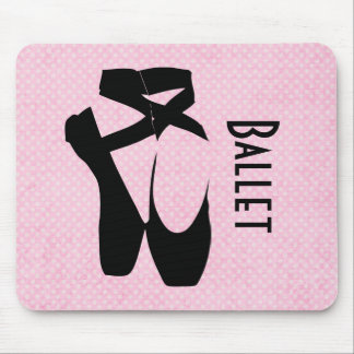 Black Ballet Shoes En Pointe Mouse Pad