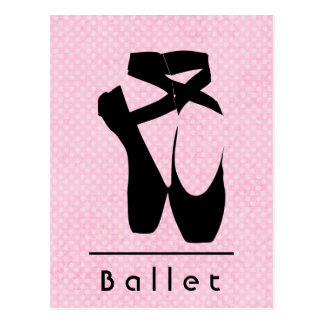 Black Ballet Shoes En Pointe Postcard